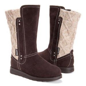 Muk Luks Chocolate Stacy Boot-Women NEW Retail $99